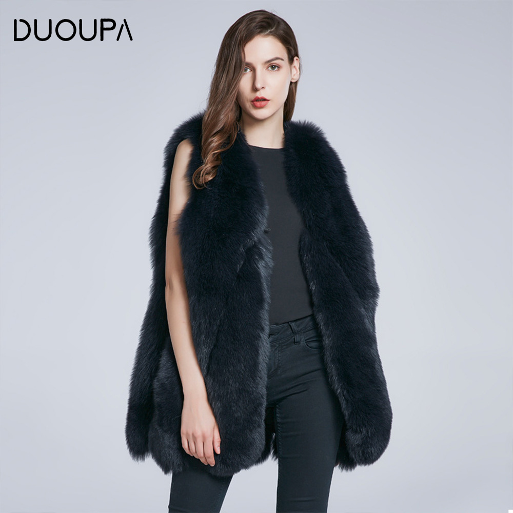DUOUPA Real Fur Coat For Women Winter natural fur Jacket Fashion Short silm Outwear Luxury Natural real