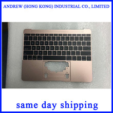 A1534-funda superior con teclado para Macbook, cubierta superior con teclado de Color oro rosa para Macbook de 12 pulgadas, A1534, 2016, 2017