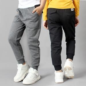 Image 2 - IIMADFWIW Çocuk Pantolon 2019 Ilkbahar Sonbahar Yeni Erkek spor pantolon Öğrenciler Pamuk Gevşek Rahat Renk Gri/Siyah/Kahverengi