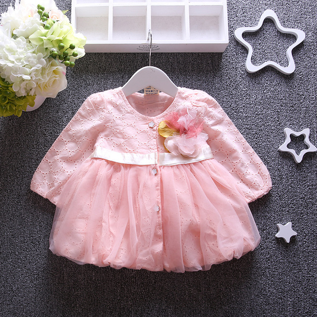 autumn baby girls Cardigan for party lace patchwork infant girls jacket cute bow long sleeve girls outfits pink roupa infantil