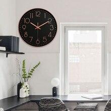 a17308c85961 Reloj Digital de 12 pulgadas de oro rosa 3D Oficina sala de estar ornamento  silencio Hotel