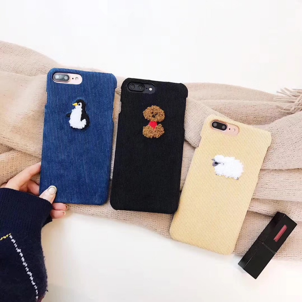 Detail Feedback Questions about For iPhone XS Max XR X 8 7 6 6S Plus Cover  Penguin Dog Sheep Deer Animal Pattern Striped Velvet Case on Aliexpress.com  ... 5c1ab307c106