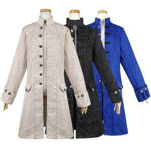 Jacket Cosplay Edwardian Costume Trench-Coat Steampunk Prince Renaissance Frock Men Victoria