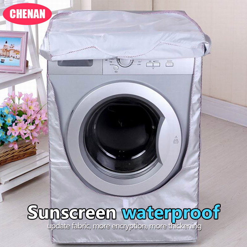 Chen An Washing Machine Cover Waterproof Case Home Sunscreen Laundry Dryer Polyester Sil ...