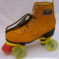 Professional Two Lines Roller Skates Lace Up Boots Double Line Skating Shoes 4 Wheels Roller Shoes