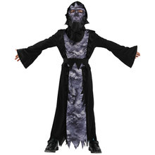 Kids Child Devil Demon Costume Scary Monster Azrael Death Grim Reaper Costumes for boys Dreadful Messenger Halloween Fancy Dress