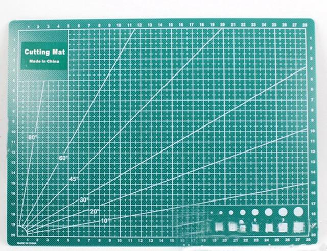 Pvc cutting mat double sided self healing cutting board for Self healing craft mat