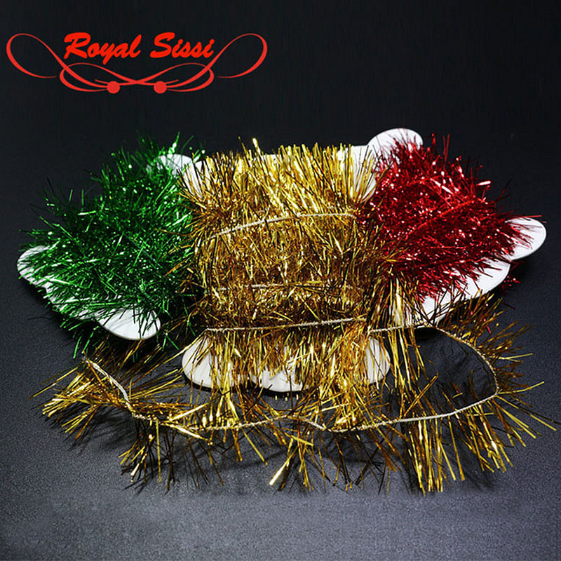 6 Colors Fly Fishing Long Tinsel Chenille Crystal Flash Thread Line Rig Baits Flashabou Fly Tying Streamer Flies Material Lines
