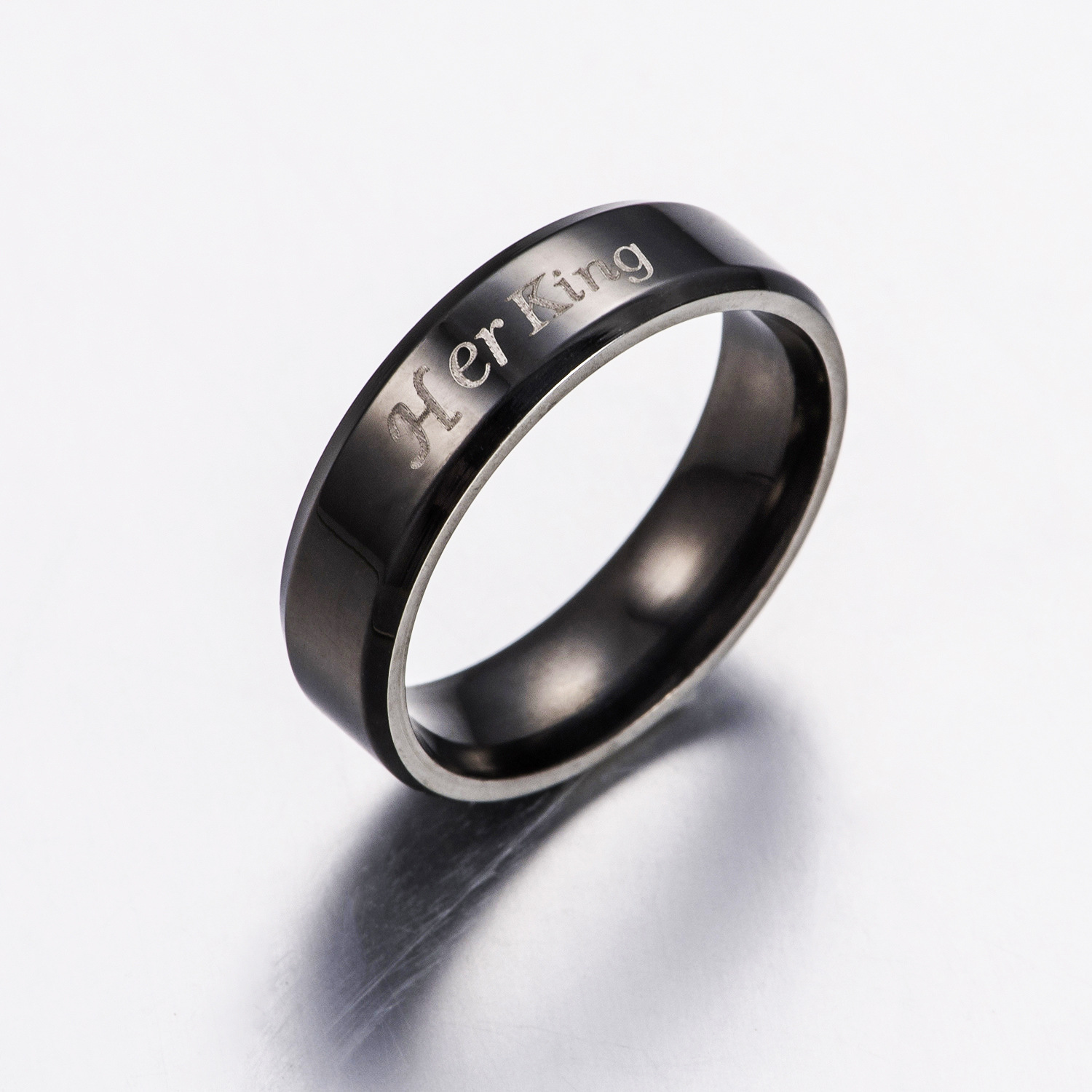 Fashion Jewelry Black Color Stainless Steel Couple Rings \