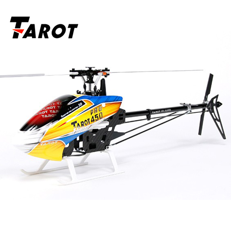 Popular Tarot 450 PRO V2 DFC 3 Axis Flybarless 6CH Brushless RC Helicopter Kit Remote Control Toys For RC Drone Kids Toys