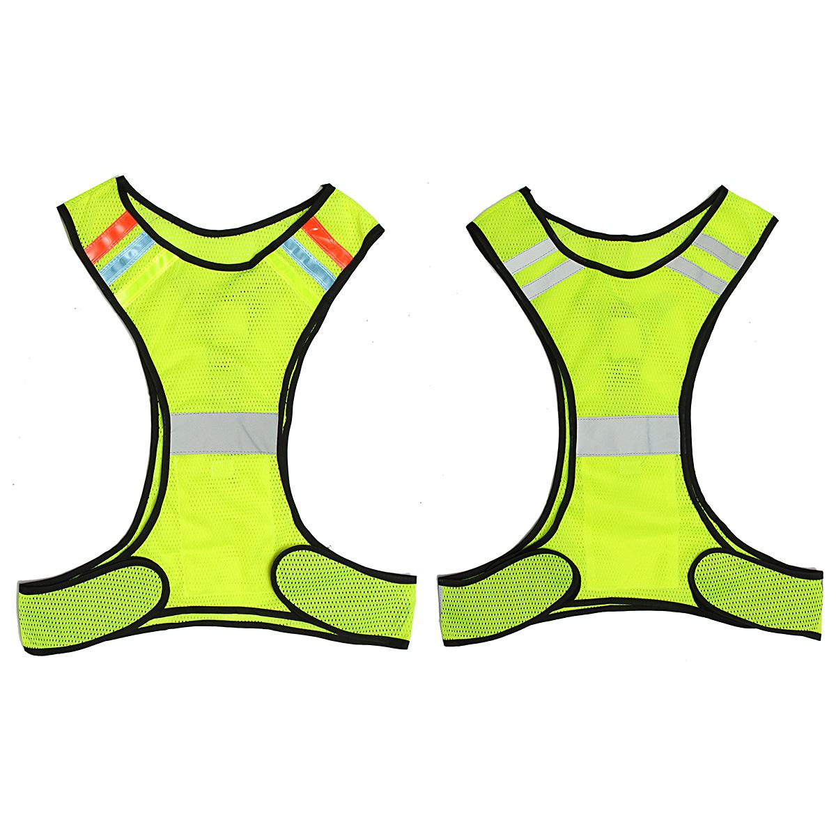 LED Reflective Safety Vest for Night Running Cycling Breathable High Visibility new style breathable mesh high visibility reflective traffic safety cycling vest printable words logo