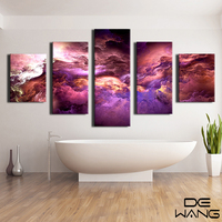 Abstract Canvas Art Painting 5 Piece Large Wall Art Abstract Canvas Print Watercplor Frame Art Print