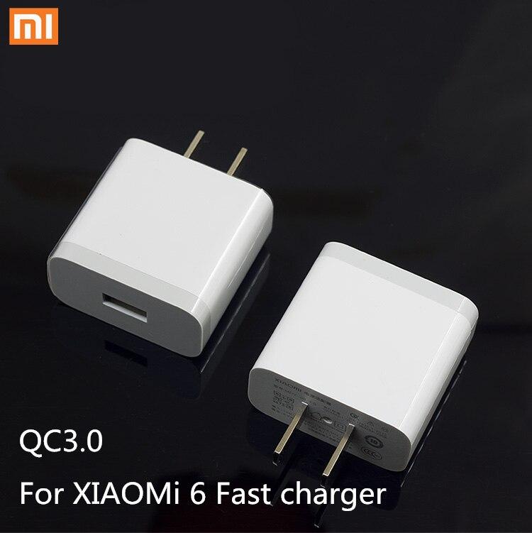 XIAOMI mi6 Chargeur mi 6 D'origine 5 V/3A Usb Rapide Chargeur Charge USB 3.1 type c Câble Pour Mi mix 2 2 s max 2 a1 5 mi5 mi5s mix2s