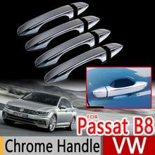 Для VW Passat B8 Хромированные крышки для ручек набор из 4 Volkswagen MK8 Sedan Wagon Variant автомобильные аксессуары наклейки для стайлинга автомобилей