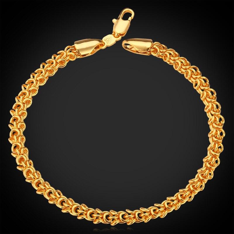0227dedc8 Kpop سوار بسيط نمط الأزياء والمجوهرات الرجال/المرأة العصرية الأصفر الذهب/فضي  اللون عالية الجودة أساور h704