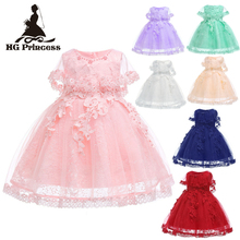 Free Shipping 2019 New Arrival 3-10 Years Child Party Dress Pink Flower Girl Dresses For Weddings knee Length Kids Evening Gowns knee length flower girls dresses for weddings tulle kids evening gowns a line mother daughter dresses for girls with hade make