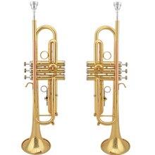 Professionelle Jazzor trompete JZTR-2008, gold trompete mit mundstück Bb trompete wind musikinstrumente/corneta/trompeta
