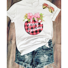 Merry Christmas Graphic T Shirts White Plus Size Top Womens Gothic Tops Print Streetwear Women Clothes Harajuku Shirt