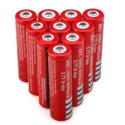 GTF 1-Batteria 10pcs 18650 3.7V 4000mAh De Lítio 18650 Bateria Recarregável para o Laser de Caneta de Luz Lanterna com Carregador DA UE 18650