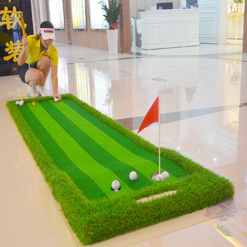 Image 4 - Golf Putting Green Indoor&Outdoor Residential Putting Mat Backyard Portable Golf Practice Putting Trainer Mat for Golfer-in Golf Training Aids from Sports & Entertainment