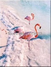 Diamond Embroidery Flamingo birds Diy Diamond Painting Cross Stitch Home Decor Full Diamond Mosaic Crafts scenery цена