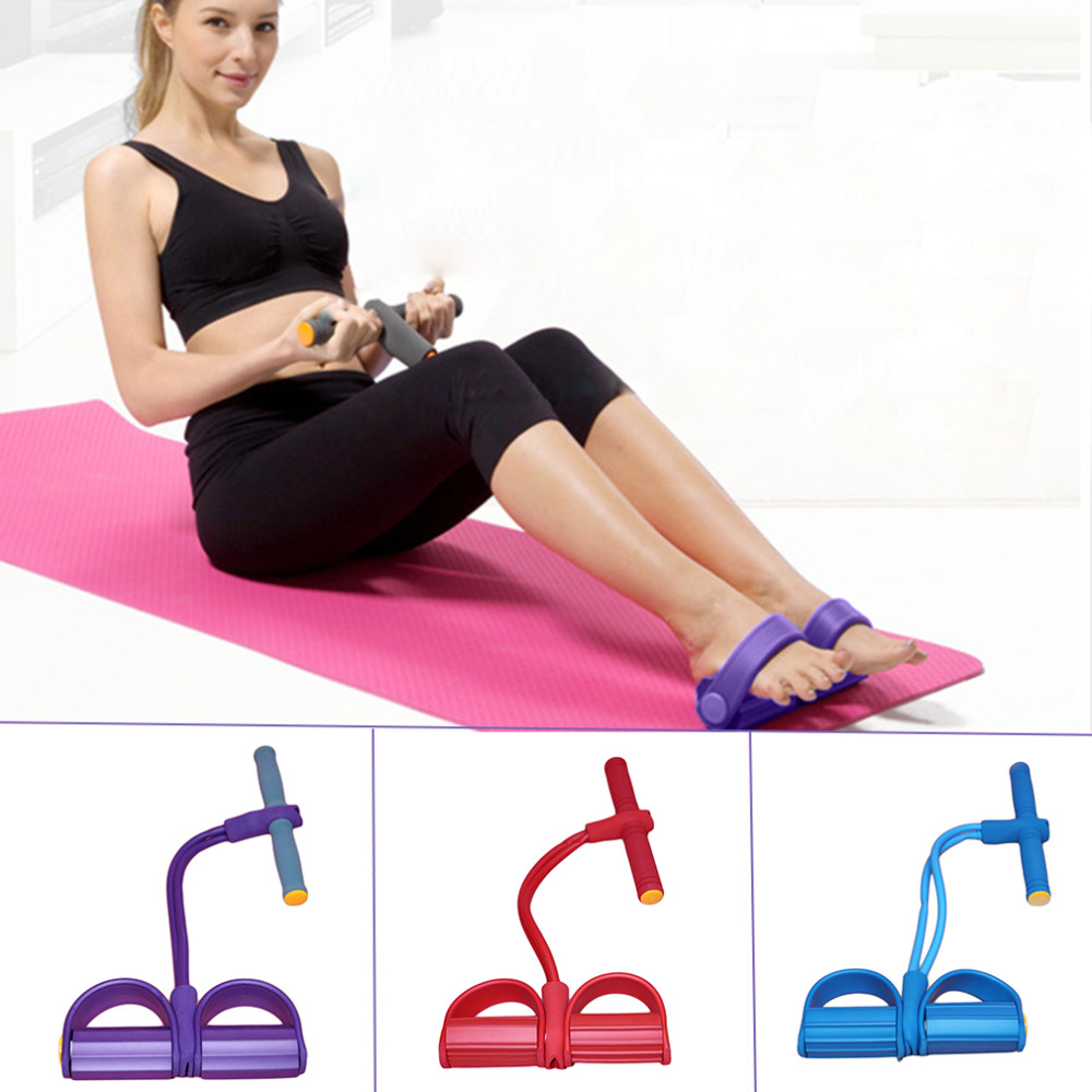 Clear Stock Fitness Exercise Feet Pedal Puttee Pull Rope Elastic Yoga Slim Lose Weight Drop Shippin