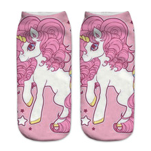 Unicorn shoes Graphic 3D Full Print Unisex Low Cut Ankle Socks Multiple Colors Cotton Sock Casual Hosiery
