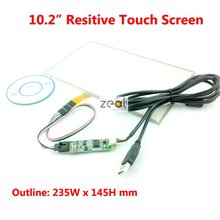 10.2″ Inch Resistive Resistance-Type Touch Screen + 4 Wire USB Controller Board for B101AW03 235*145mm