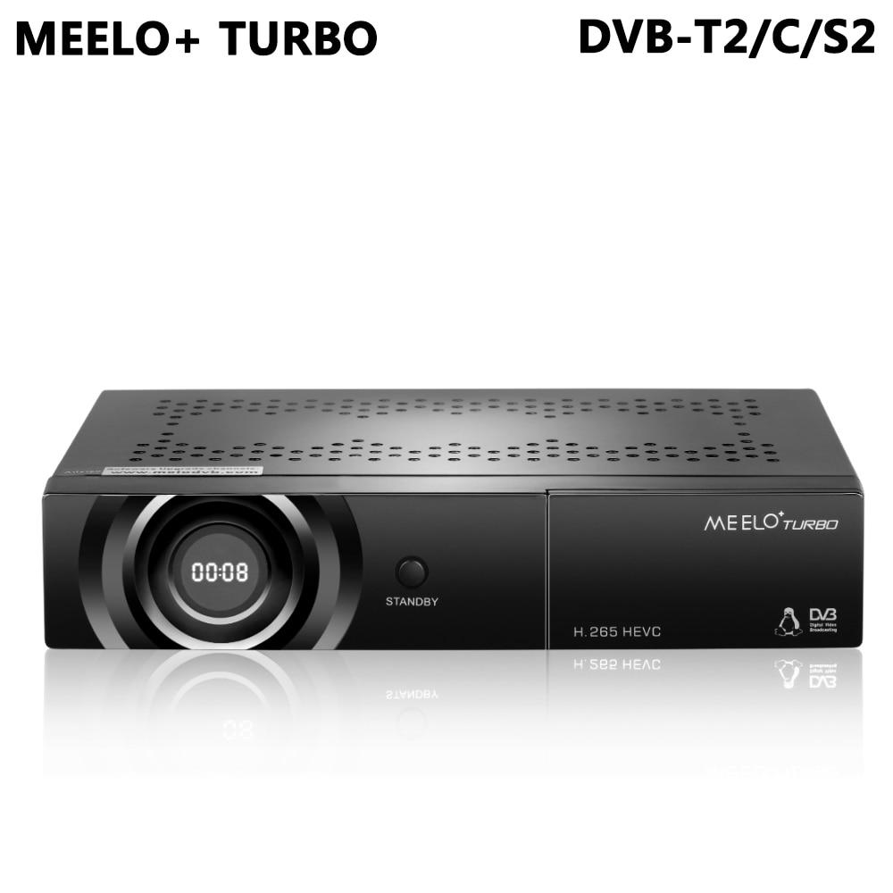 MEELO+ TURBO DVB-T2 DVB-C DVB-S2 Linux Satellite Receiver 7 Segment - 4 Digits Display Processor 1080P Full HD Receptor STB original dvb t satlink ws 6990 terrestrial finder 1 route dvb t modulator av hdmi ws 6990 satlink 6990 digital meter finder