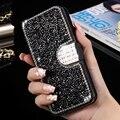 Borda s7 proteja phone case moda bling capa diamante glitter bolsa em couro flip tampa traseira para samsung galaxy s7 edge womenwallet saco