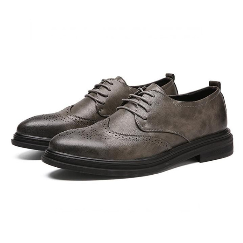 8121 Gray Vintage Partie up Chaussures Flats De Business Black Dentelle Richelieu Black Occasionnel Mode Mariage Cuir Homme Hommes En 8120 Gray Robe Sculpté Richelieus Movechain 8121 8120 nxOTFqw84T