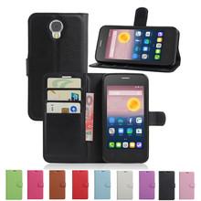For Alcatel One Touch Pixi 4 OT5010D Case Luxury Wallet PU Leather Back Cover For Alcatel PIXI4 5010D 5.0inch Flip Phone Bag