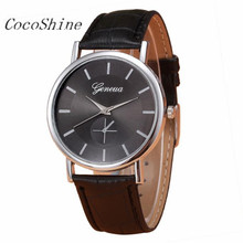 CocoShine A-918  Women Ladies Retro Design Leather Band Analog Alloy Quartz Wrist Watch  wholesale Free shipping