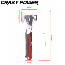 CRAZY POWER Adjustable Wrench Jaw+Screwdriver+Pliers+Knife Multi Tool Set Survival Gear  Hand tool set for Universal