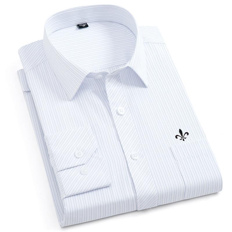 Image 5 - Dudalina Male Striped Shirt Brand Clothing Pocket Mens Long Sleeve Shirt 2019 Summer Slim Fit Shirt Casual Shirt Men Clothes-in Casual Shirts from Men's Clothing