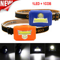 COB LED de alta Qualidade Mini Head Lamp Luz Lanterna Tocha 3 Modo Farol Farol Camping