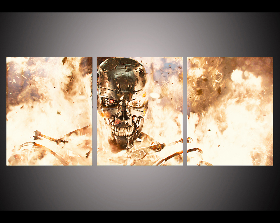 Big size living room wall decor home decor Wall Art Picture printed terminator genisys film Painting 960x960