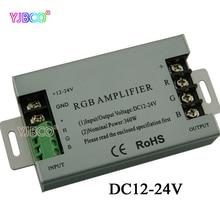 Controlador de amplificador led RGB de 360W DC12V 24V carcasa de aluminio 30A para lámpara de tira LED RGB 5050 3528 SMD