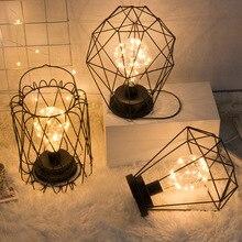 Небольшой светодиодный ночник с железной медной проволокой edrooom Dormitory рядом с ночным светильником для украшения дома, настольная лампа, креативный геометрический светильник