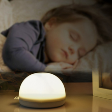 Zure LED Night Light Tap Touch Stick-on Push for Closet Cabinets Portable Bedside Lamp Nursery