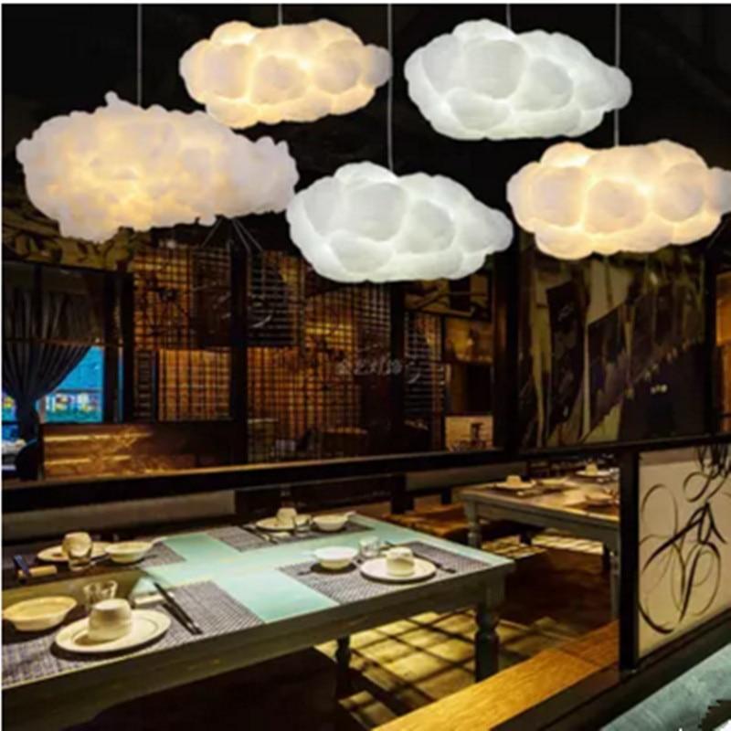 Floating White Cloud Chandelier Decorative Clouds Light