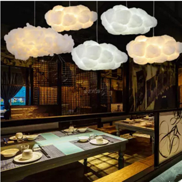 Floating White Cloud Chandelier Decorative Clouds Light