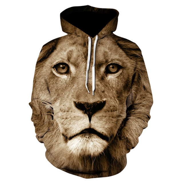 Lion & Tiger 3D Print Hoodie Collection 2