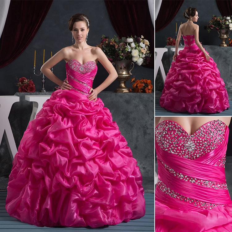 4fbec27fd 2015 Quinceanera Dresses With Sweetheart Beads Ruffles Ball Gown Long  Organza For 15 Years Vestidos De 15 Anos Debutante W50