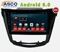 """Jasco 10 """"Android 6.0 No Painel Do Carro DVD Player GPS de Navegação para Nissan Qashqai X Trail-2014 2015 Rádio RDS 3G de Áudio e Vídeo fone de ouvido estéreo"""