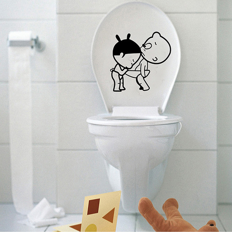 Decorative Toilet Seat Wall Stickers 3D DIY Decals For Bathroom Hotel Resort