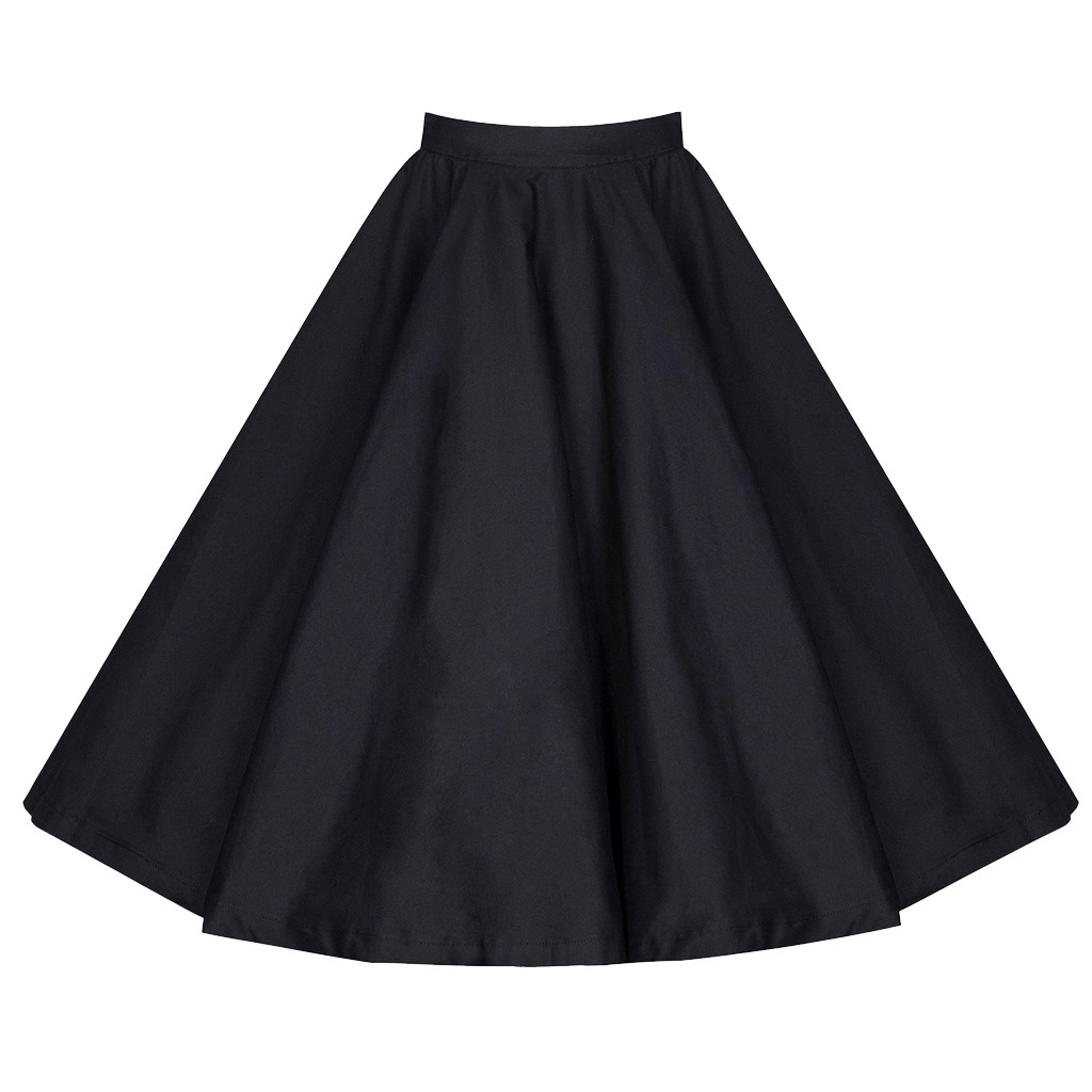 JAYCOSIN clothes Women Casual skirt Solid A-Line Fashion Elastic Waiste Vintage beautiful Knee-Length Daily Skirt