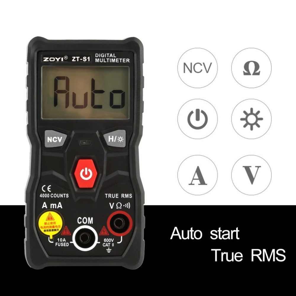 ZOYI ZT-S1 Digital Multimeter DC/AC Voltage Current Meter Handheld Ammeter Ohm Diode NCV Tester 4000 Counts Multitester No Conta
