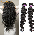 Brazilian Virgin Hair 7A Brazilian Virgin Human Hair Loose Wave 100g Brazilian Hair 2Pcs/lot Brazilian Curly Human Hair Weave