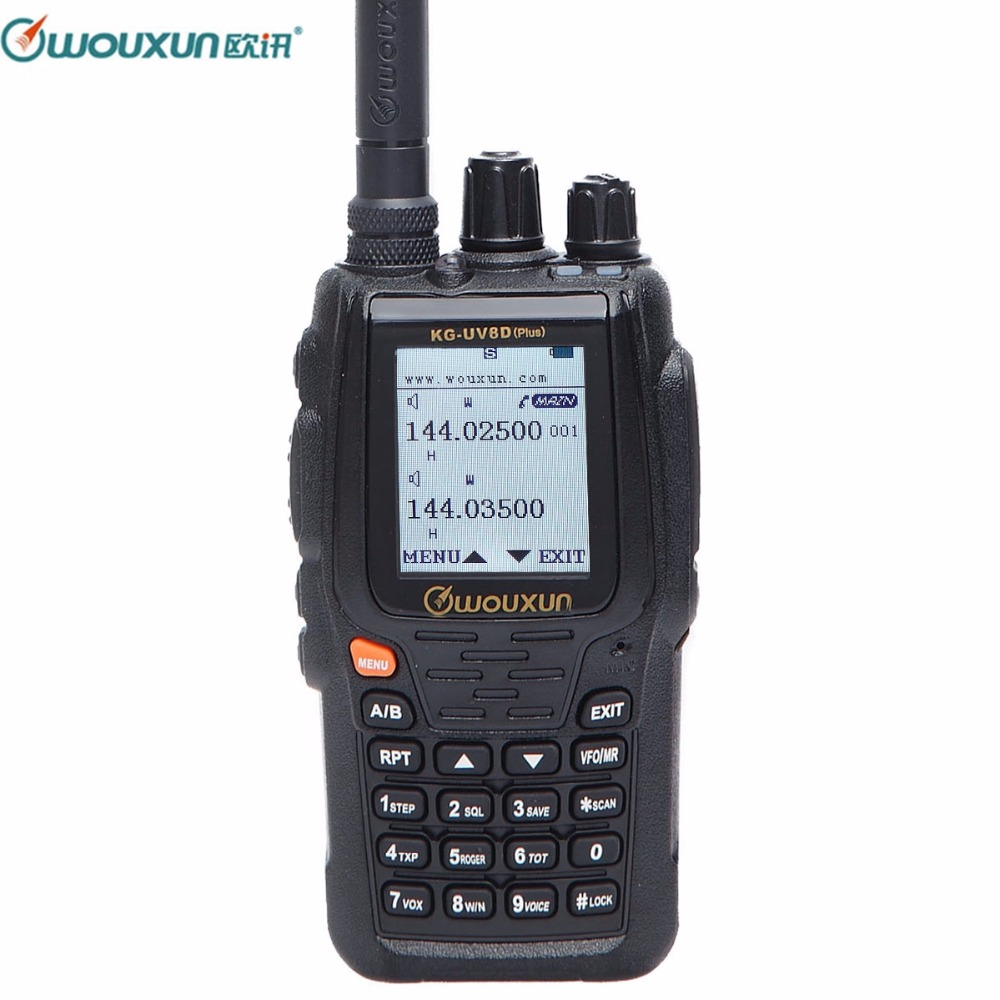 Wouxun KG UV8D Plus Two Way Radio Walkie Talkie 136 174/400 520MHz 2.5K Dual Band Transceiver 999 Memory Channels Ham Radio